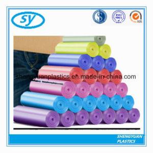En PEHD en plastique jetables personnalisé le PEBD sac poubelle sur rouleau