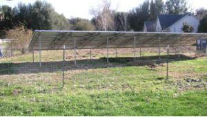 Staffa del pannello solare del sistema al suolo