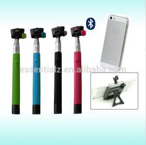 Essentialz Bluetooths Selfie Stick Wireless monopie con CE RoHS Cerfitication Smarthone para Android Ios Teléfono