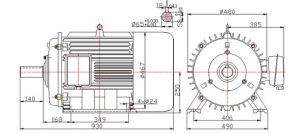 20kw 40kwの低速度Hydro Turbine Permanent Magnet Generator 50Hz