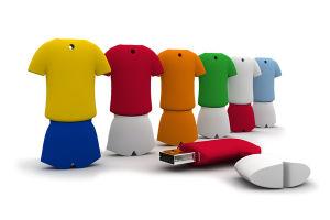 Горячий индивидуальные Word Cup Football футболка флэш-накопитель USB (EG012)