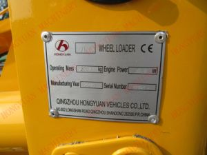 Zl10 Qingzhou Hongyuanの手段Co.、株式会社からの小型車輪のローダー