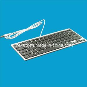 Het Toetsenbord van Ultraslim volledig - compatibel systeem met het Systeem van de Verrichting van MAC (mk-8002I)