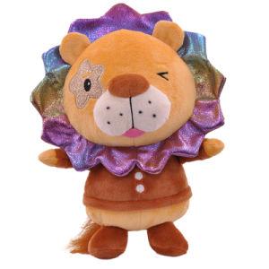 새로운 디자인 Peluches 선물 연약한 박제 동물 사자 아기 주문 견면 벨벳 장난감