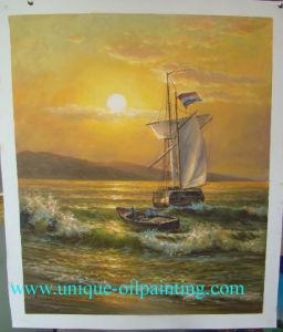 Het Olieverfschilderij van de boot, het Olieverfschilderij van het Schip, Met de hand gemaakt Olieverfschilderij