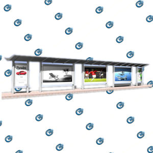 La parada de autobús de acero inoxidable de la vivienda (HS-BS-A003)