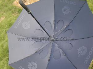 PetroオイルのCnoocのロゴによってカスタマイズされるガラス繊維傘2つの層のStrightのゴルフ
