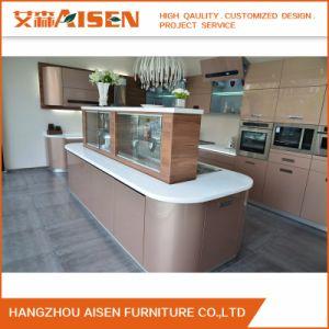 Armadio da cucina moderno di vendita caldo di lucentezza alta del fornitore della Cina