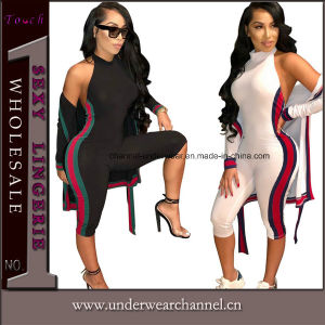 2018 Hot Sexy Playsuit Sellings Romper accidentada Jumpsuit lateral (TOSM3086)