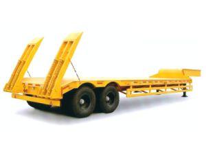 Eixos de Tri Feixe do Côncavo baixa Utilitário Cama semi reboque veículo