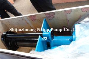 A pasta fluida com revestimento de borracha Vertical Overhung Bomba (100ZJLR)