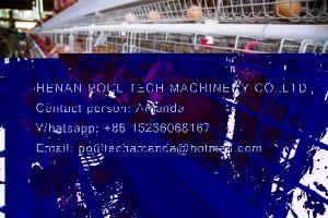 Het Landbouwbedrijf van het Gevogelte van Oeganda - de Kooi van de Kip van de Batterij & Hete Gegalvaniseerde Kooi & de Kooi van de Laag met Automatisch het Voeden Systeem
