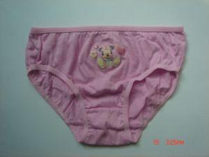 2016 BSCI Oeko-Tex Panty 030208 ropa interior de la niña con Print