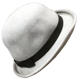 Moda chapéu de feltro de peles de mulheres com Band /Fedora