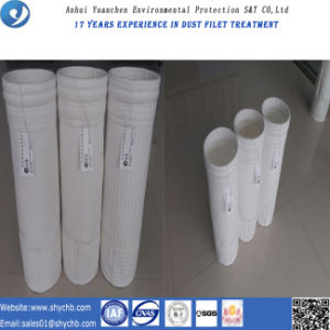 Filtro de saco do poliéster de feltro da agulha da boa qualidade para a planta do cimento