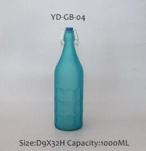 ワインのためのプラスチック帽子が付いている新しい1000mlカラーガラスビン