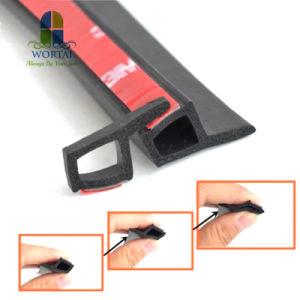 P Tipo cinta de sellado de puertas de coches Weatherstripp embellecedor perimetral de aislamiento de ruido de la junta de goma burlete