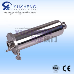 De sanitaire Gealigneerde Filter van het Roestvrij staal met de Slang van de Uitlaat