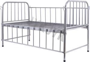 Rampa de alta de aço inoxidável cama de hospital para crianças