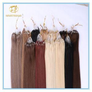 Kundenspezifische Farben-Qualitäts-Doppeltes gezeichnete Mikroring-Extensions-Haare mit Fabrik-Preis Ex-026