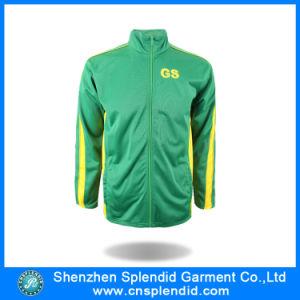 I vestiti verdi della Cina scaldano il cappotto di inverno di modo con la chiusura lampo