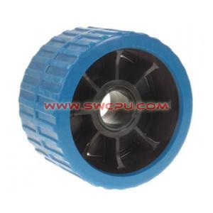 주문품 기계로 가공 U 홈이 있는 플라스틱 방위 롤러 폴리/V 슬롯 방위 바퀴