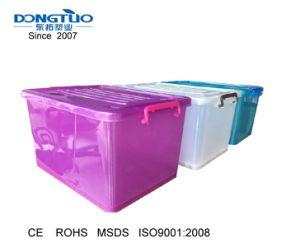 70L Caixa de armazenamento de plástico, caixa de brinquedos com rodas, desmarque a caixa de armazenamento de plástico