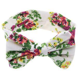 I fiori appena nati stampano i capelli floreali dell'elastico dell'arco di farfalla