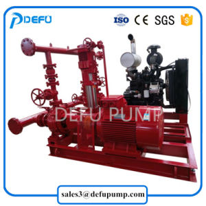 Nfpa énumérés emballés ensemble de la pompe incendie à moteur Diesel de fin d'incendie d'aspiration de la pompe Jockey