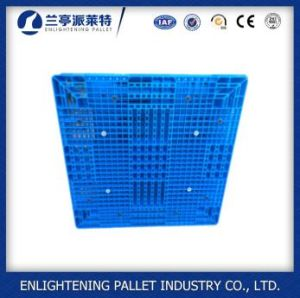 Virgem de HDPE 6 toneladas de capacidade de carga de paletes de plástico empilháveis de dupla face