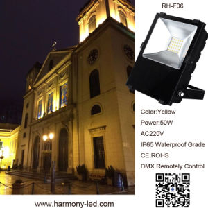 Design moderno RGB IP65 DMX 50W Holofote LED