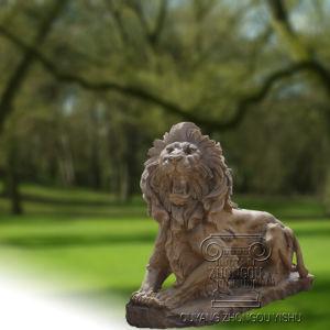 Het natuurlijke Marmeren Beeldhouwwerk van het Standbeeld van Leeuwen, Dierlijk Beeldhouwwerk