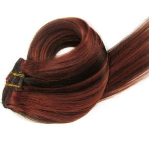Cabelo humano natural 8/10 Pedaços Remy Hair Clip em extensões de cabelo