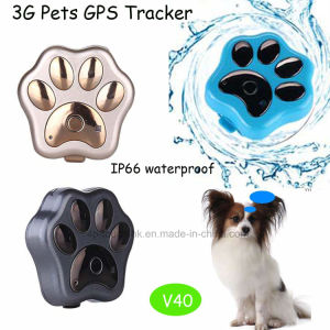 3G/WCDMA IP66は防水するGPS+Lbs+WiFi (V40)のペットGPS追跡者を