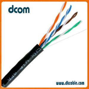 Cat5e Cable LAN Ethernet Cu CCA 24 AWG UTP Cat5e el cable de comunicación