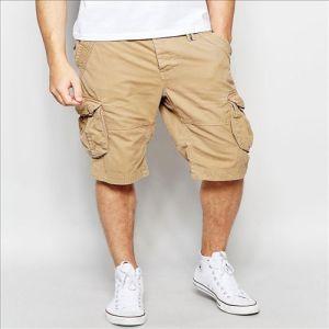 2016 Shorts cachi del carico del cotone della saia di stile di Burmada degli uomini