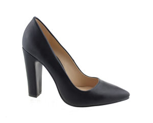 Women's fait Toe Chunky enveloppé robe chaussures haut talon pompes