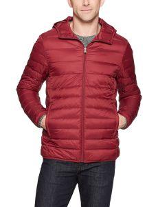 Xiaolv88 ligero Water-Resistant Packable hombres encapuchados Down Jacket