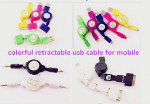 Kleurrijke Micro- USB het Laden Kabel en de MiniKabel van usb- Gegevens