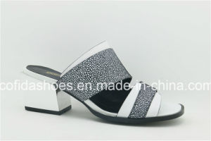 16 Nouveau Style Double Slipewomen Chaussures en cuir de couleur