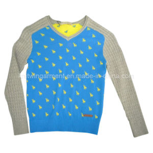 Cotone 100% Boy Sweater in Round Neck Long Sleeve (C-04)