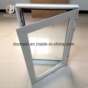 Interrupção térmica branca janela aberta da manivela de alumínio