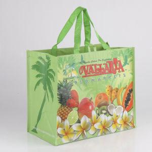 Heavy Duty promocionales 120gsm laminado brillante PP no tejido Bolsa de compras de frutas de tejido, polipropileno tejido de la bolsa de supermercado