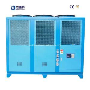 Scroll refrigerado por aire Enfriador de agua con Shell y aletas del evaporador de tubo espiral de condensador ventilador exterior axial