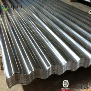 電流を通された波形の鋼板か電流を通された鉄の屋根ふきシート