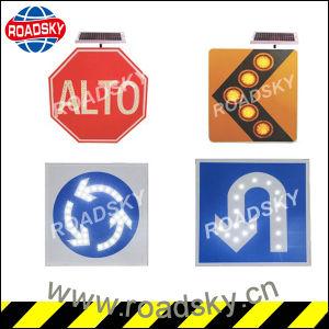 금속 태양 강화된 소통량 LED 도로 안전 경고 표시