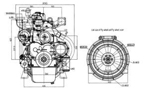 디젤 기관, 디젤 엔진, 발전기 엔진, 힘, 기름 전기 엔진 4105D