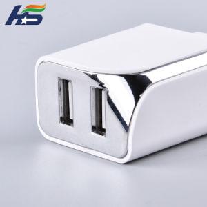 Горячий заряжатель мобильного телефона конструкции сбывания с заряжателем EU Stocket USB двойных портов