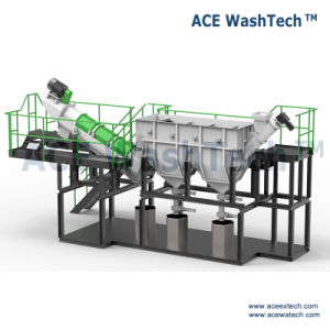 Installatie van de Was van het Recycling van de Fles van de Melk van het afval de Plastic