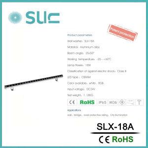 RGB de 18W Bañador de pared LED impermeable para la decoración (Slx-18A)
